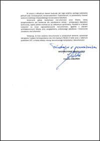 Pismo wiceprezydenta Jabłońskiego, s. 2.