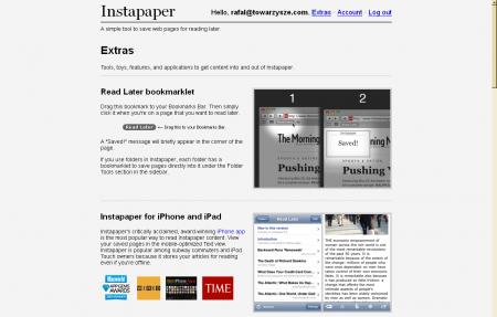 Instapaper — zakładka-skrypt
