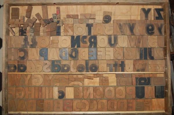 Czcionki drewniane