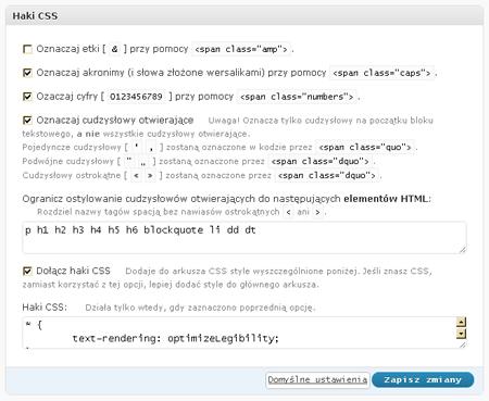wp-Typography: Haki CSS